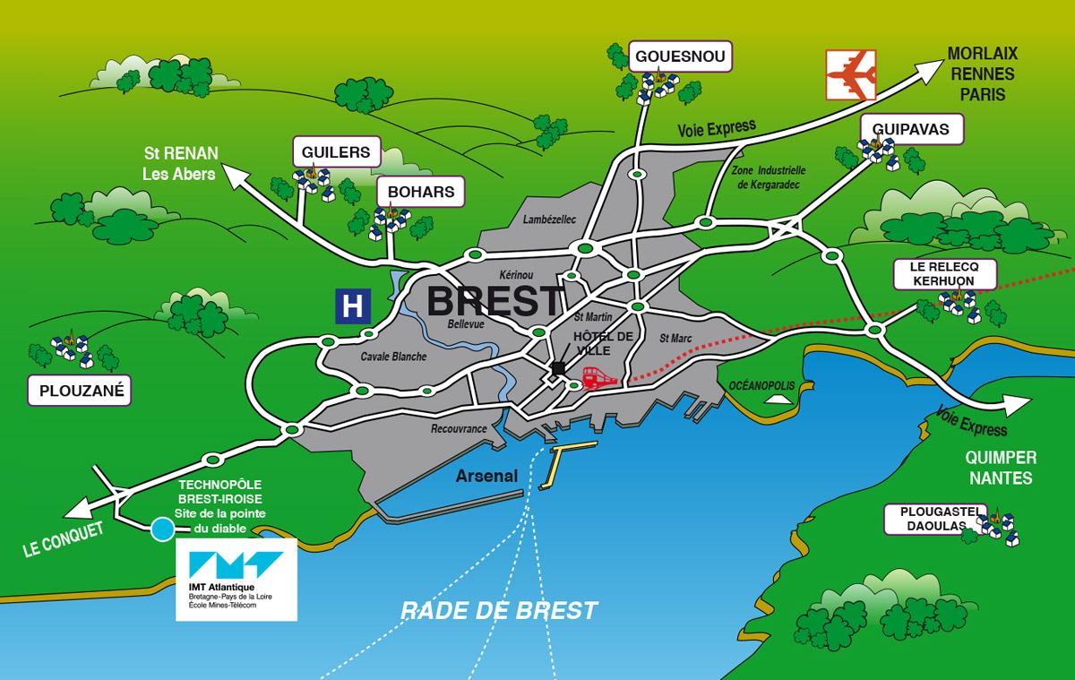 Plan De Ville Brest