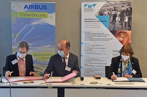 aL'Institut Mines-Télécom, IMT Atlantique et Airbus CyberSecurity renforcent leur partenariat