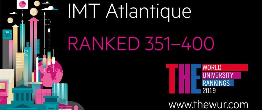 IMT Atlantique intègre le prestigieux classement THE World University Rankings 2019