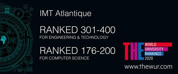 IMT Atlantique parmi les meilleurs établissements au monde en ingénierie et technologie, et en informatique