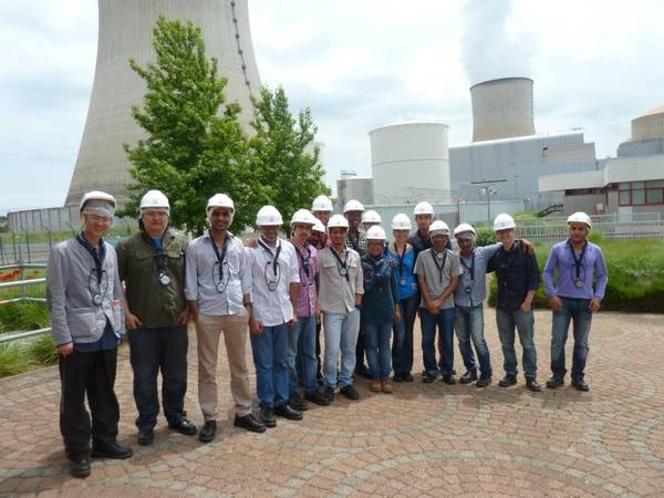 Visit in a nuclear power plant