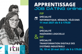 Les Job dating de la filière Apprentissage en mai 2021