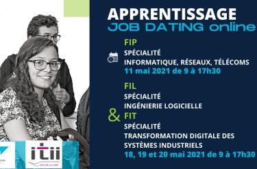 Les Job dating de la filière Apprentissage en mai 2021