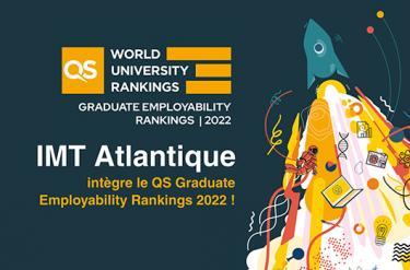 IMT Atlantique intègre le « QS Graduate Employability Rankings » 2022 pour son excellente réputation auprès des employeurs