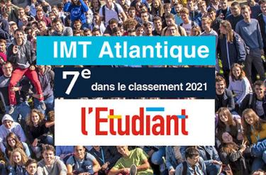 Classement de L'Étudiant : IMT Atlantique grimpe à la 7e place !
