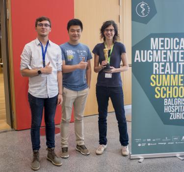 Lauréats du hackaton de l'école d'été de réalité augmentée médicale de Zurich