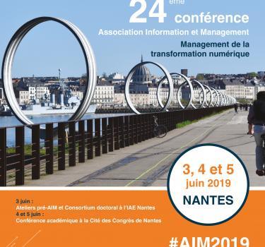 L'Association Information et Management tient sa conférence annuelle à Nantes du 3 au 5 juin 2019