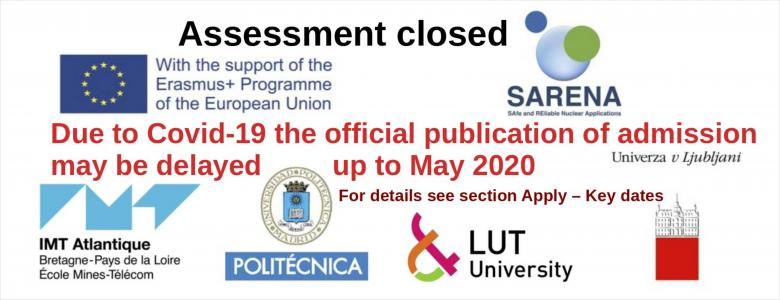 EMJMD SARENA - Assessment closed - Off. results expected for May 2020