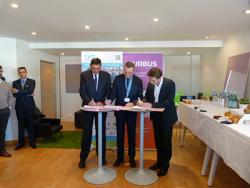 Signing of a partnership between AIRBUS Development, AIRBUS & IMT Atlantic